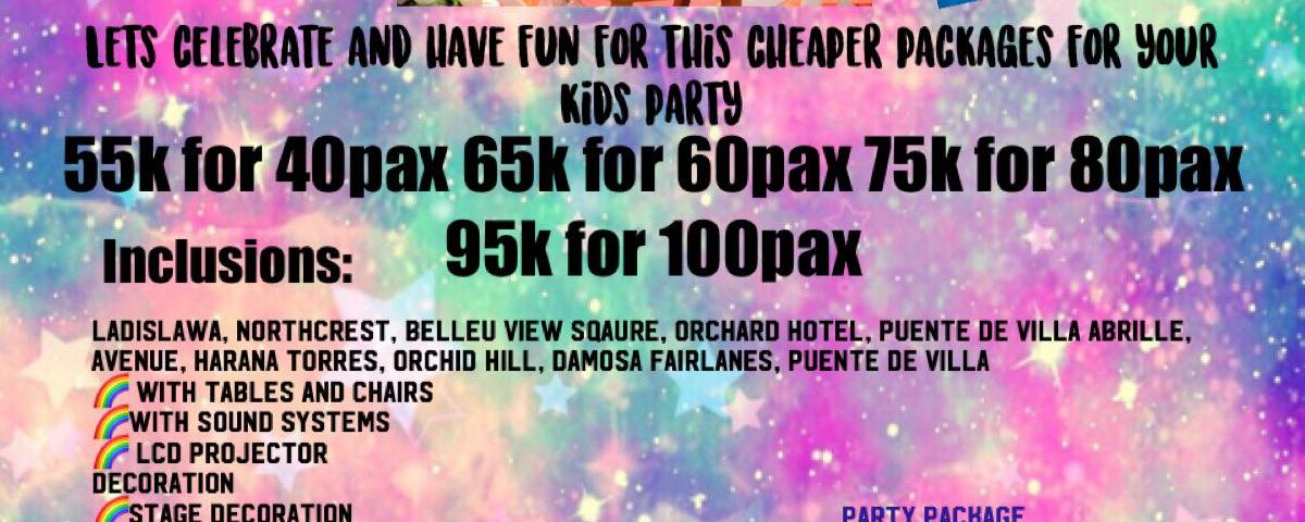 Kids party package 2020