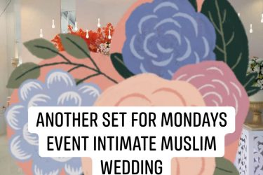 Another set intimate muslim wedding  #labanteammayflor  #mayfloreventoragnizinga...