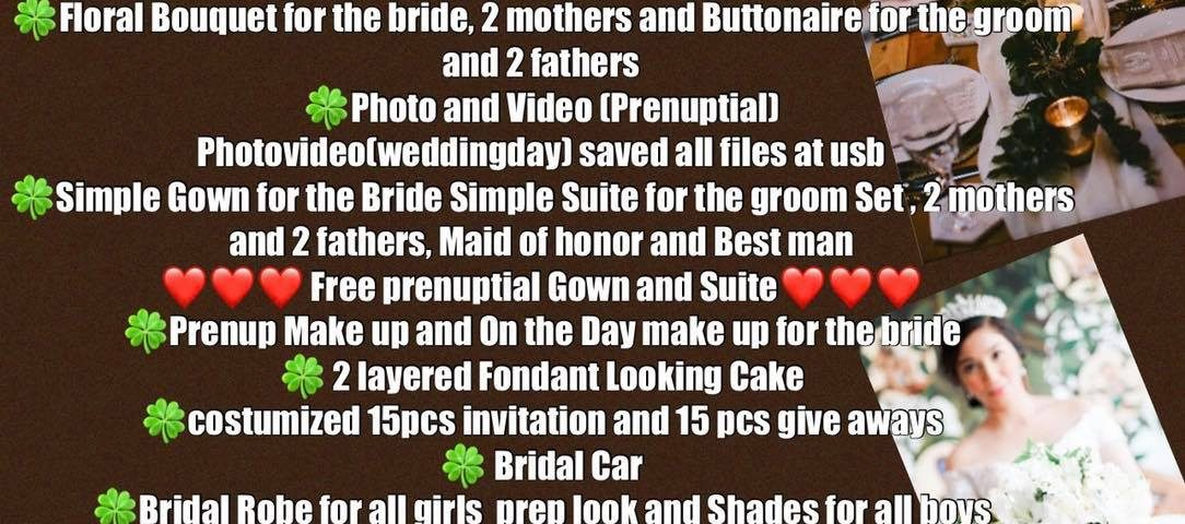Good news Guys we got our new promo package for all the couples who want to get ...
