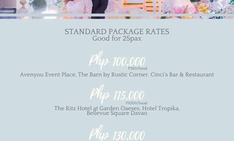 Intimate Simple Wedding  Promo free Lechon good for 25-30pax if we book from Aug...