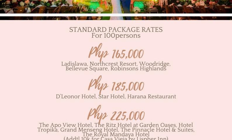 Our Standard Wedding Package is Back  For Year 2021  Standard wedding good for 1...