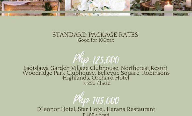 Yey good news couple our budget Wedding Packages are back again for 2021 Max 100...