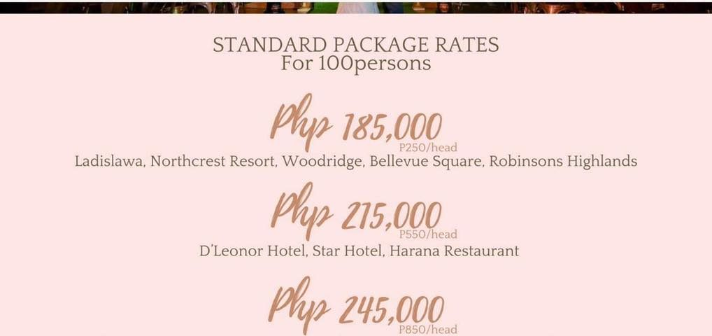 Good News Couples our standard wedding for 2021 package last months package was ...