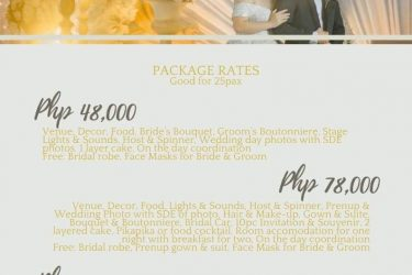 Yey good news lovely couples our budgey intimate wedding is here..  Package of 4...