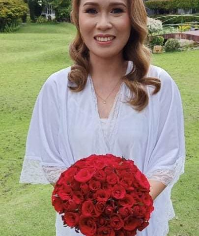 Red Roses are Very Elegant for weddings  Heres our Bridal Bouquet for todays Eve...