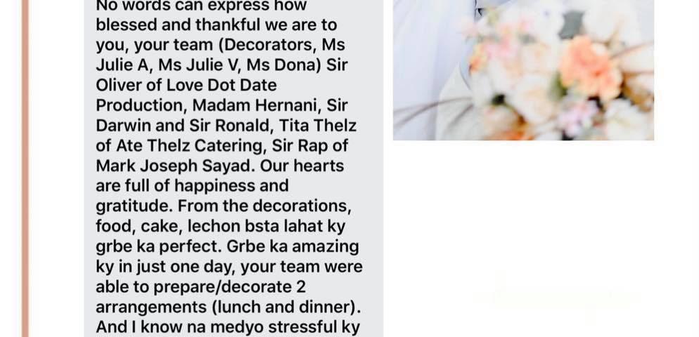 Thanks po sa trust sa mayflor events team maam red and sir John  #mayfloreventsl...