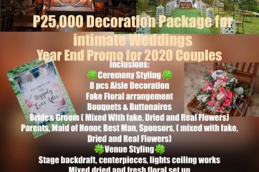Yeyey year End Promo is about to start 25k simple intimate decor  Inclusions:  C...