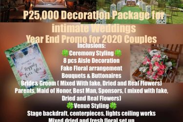 Yeyey year End Promo is about to start  25k simple intimate decor  Inclusions:  ...
