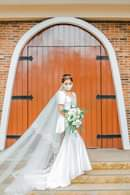Bild könnte enthalten: 1 Person, Hochzeit